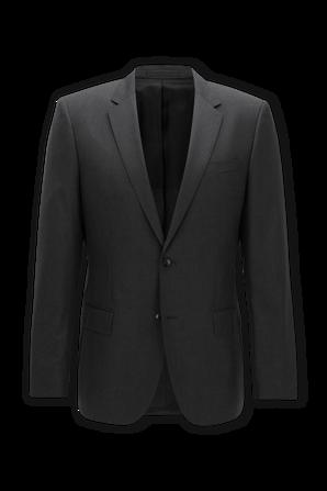 Slim Fit Jacket in Dark Grey BOSS
