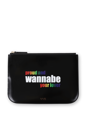 Wannabe Pride Bag in Black VICTORIA BECKHAM