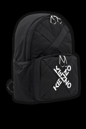 Taped Logo Backpack in Black KENZO