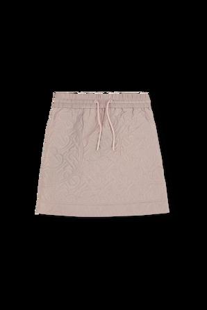 גילאי 3-14 חצאית מידי בורוד פסטל עם לוגו אול-אובר BURBERRY