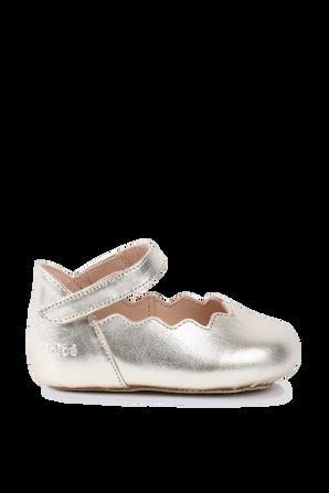 מידות 17-21 נעלי בלרינה בזהב CHLOE KIDS