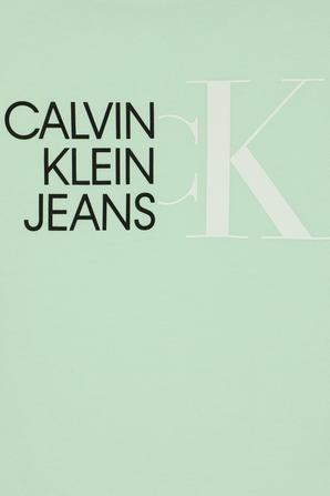 גילאי 4-16 חולצת לוגו משולב בגוון מנטה CALVIN KLEIN