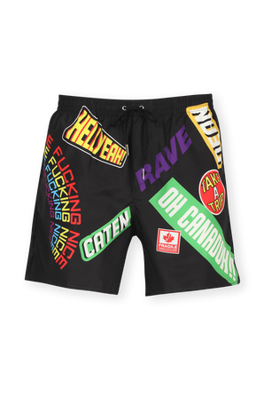 Street Style Patch Swimwear in Multicolor DSQUARED2