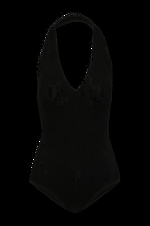 Crinkle One Piece Swimsuit in Black BOTTEGA VENETA
