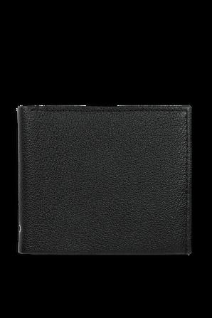 Leather Slimfold Wallet in Black CALVIN KLEIN