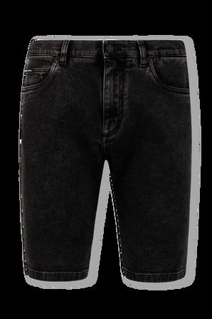 DG Embroidery Bermuda Jeans in Black DOLCE & GABBANA