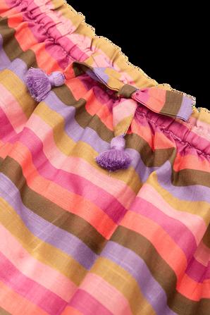 גילאי 1-10 חצאית פופי בפסים וורודים ZIMMERMANN KIDS