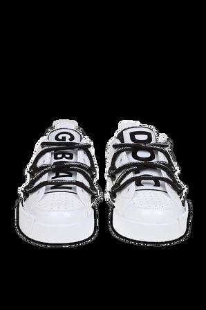 Portofino Lace Up Sneakers in White DOLCE & GABBANA