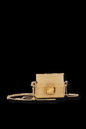 Mini Crystal Shoulder Bag in Gold FENDI