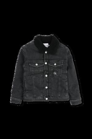 גילאי 4-16 ז'קט ג'ינס בגוון שחור CALVIN KLEIN