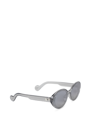 Vintage-Inspired Butterfly Shape Sunglasses in Silver MONCLER
