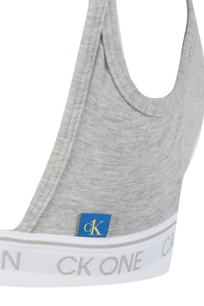 Ck1 Open Back Bralette in Grey CALVIN KLEIN