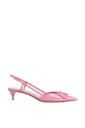 נעלי עקב סלינג-בק בצבע ורוד VALENTINO GARAVANI