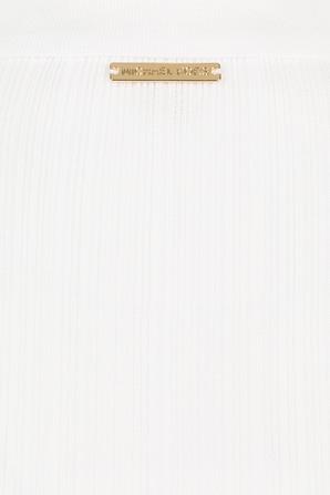 Button Polo Shirt in White MICHAEL KORS