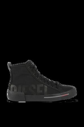 S-Dense Mid Cut Sneakers in Black DIESEL