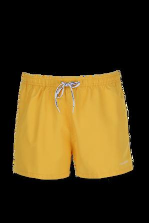 Swim Shorts With Logo Ties in Yellow CALVIN KLEIN