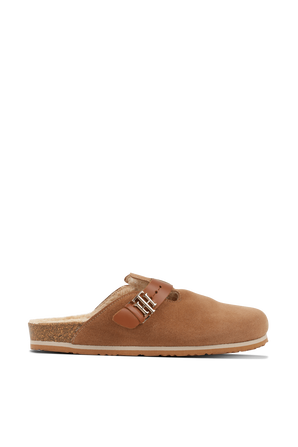 נעלי זמש בגוון חום TOMMY HILFIGER
