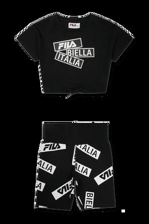 סט חולצה וטייץ רכיבה בנות FILA