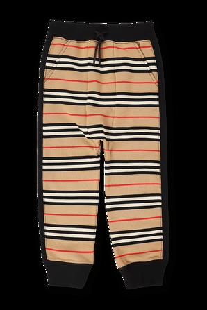 גילאי 3-14 מכנסי ג`וג עם פסים אייקוניים BURBERRY