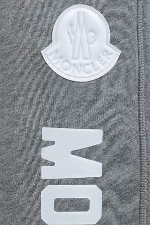 Casual Trousers With Logo in Grey MONCLER