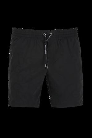 Mid-Length Swim Trunks in Black DOLCE & GABBANA