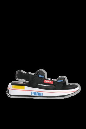 Future Rider Sandals in Black PUMA