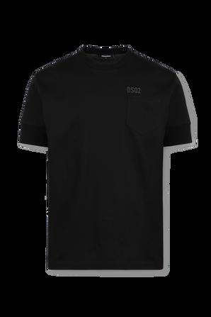 Side Pocket Logo Tshirt in Black DSQUARED2