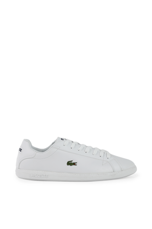 Tonal Leather Trainers Sneakers in White LACOSTE