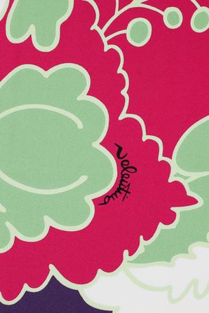 World Arazzo Print Silk Twill Foulard in Multicolor VALENTINO