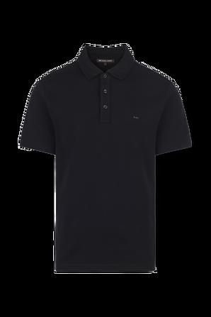 Cotton Polo Shirt in Black MICHAEL KORS