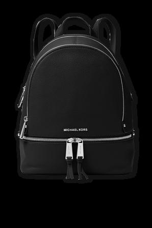 Rhea MD Leather Backpack in Black MICHAEL KORS