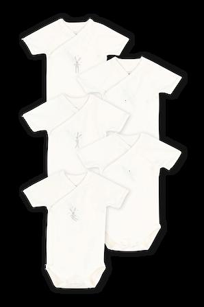 גילאי NB-12 חודשים מארז של חמישה בגדי גוף קצרים PETIT BATEAU