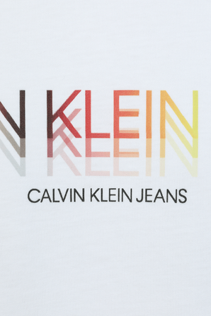 Pride - Slim Fit Logo T-Shirt in White CALVIN KLEIN
