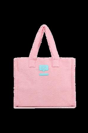 Large Eye Icon Sponge Bag in Pink CHIARA FERRAGNI