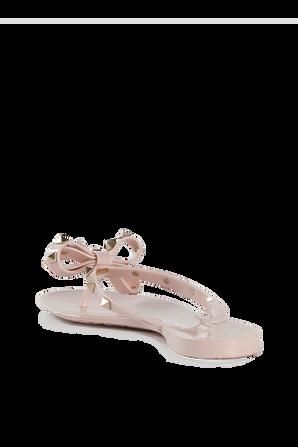 Rockstud Thong Flip-Flops in Pink VALENTINO