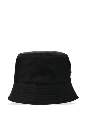 Golden Tag Logo Bucket Hat in Black DOLCE & GABBANA