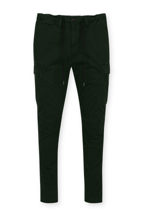 Black Cotton Stretch Slim Fit Cargo Pants POLO RALPH LAUREN