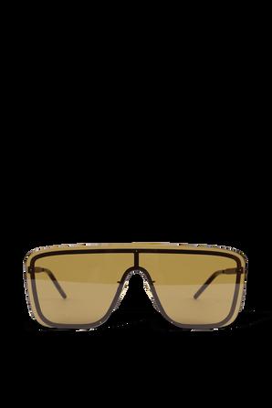 משקפי שמש מסכה 364 בצבע זהב SAINT LAURENT