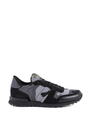 Camouflage Rockrunner Sneakers in Black VALENTINO