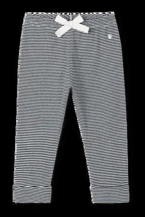 גילאי 3-12 חודשים מכנסיים ארוכים בפסים כחול ולבן PETIT BATEAU