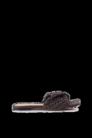 Flat Sandals With  Raffia Strap in Brown BOTTEGA VENETA