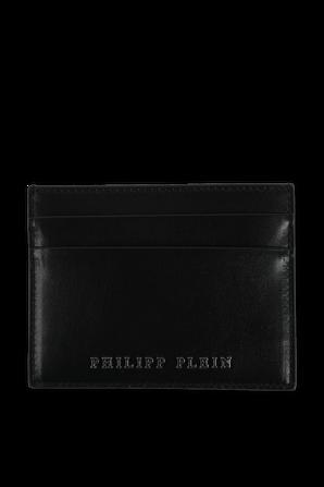 Leather Credit Cards Holder in Black PHILIPP PLEIN