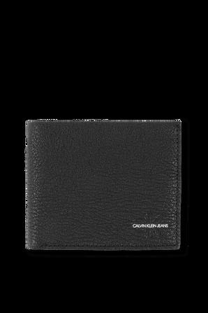 Grain Leather Billfold Wallet in Black CALVIN KLEIN