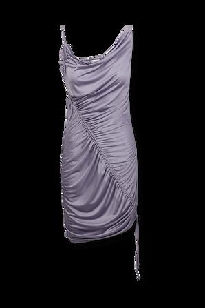 Technical Satin Dress in Purple BOTTEGA VENETA