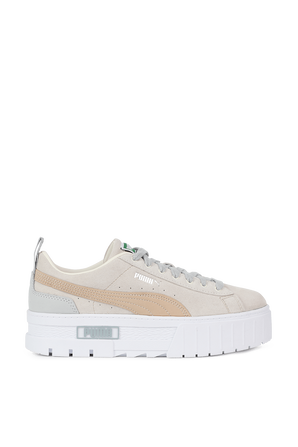 Mayze Luxe Sneakers in Beige and Grey PUMA