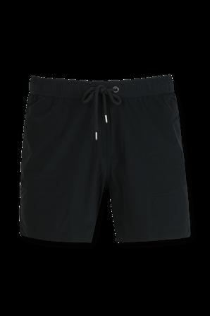 Basic Straight Boardshorts in Black MONCLER
