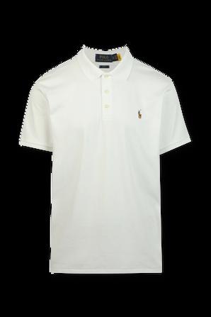 White Slim Fit Soft Touch Polo Shirt POLO RALPH LAUREN