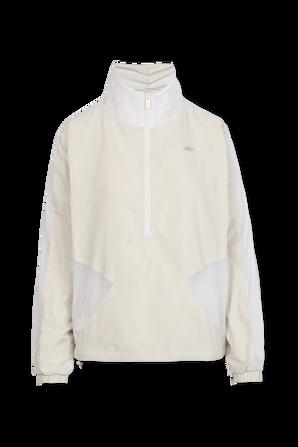 Renewal Half Zip Pullover in White ALO YOGA
