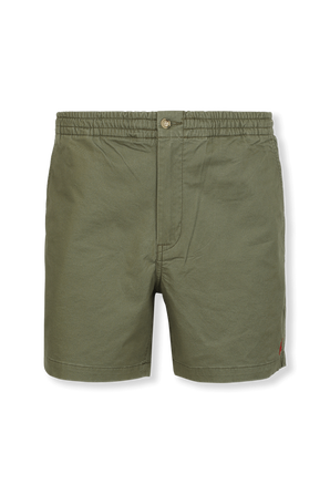 Cotton Flat Shorts in Olive Green POLO RALPH LAUREN