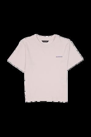 גילאי 2-10 חולצת לוגו בצבע בז BALENCIAGA KIDS